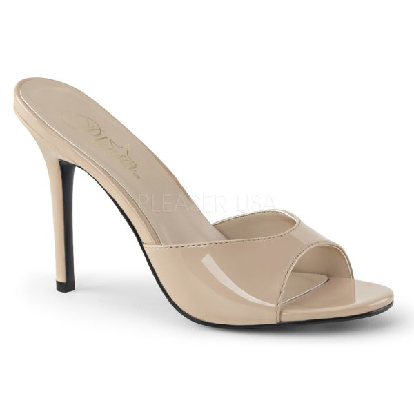CLASSIQUE-01 High Heel Pantolette in nude Lack